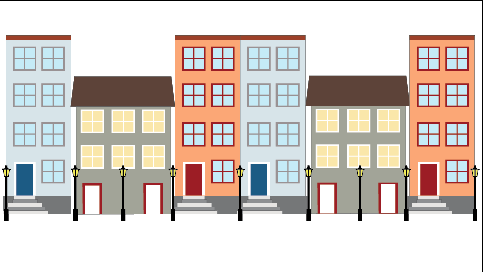 Buildings done in Illustrator