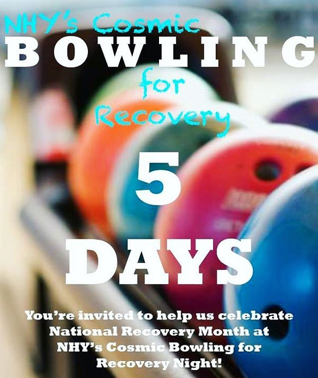 Only 5 days left until we celebrate National Recovery Month at NHY's Cosmic Bowling for Recovery Night! Join us for a night of cosmic bowling and fun...grab your tickets today! Link in profile 🎳#NationalRecoveryMonth #bowling #lasvegas