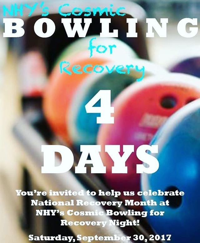 We can hardly contain our excitement!  There are only 4 days left until we knock down some pins to celebrate recovery.  Join us at NHY's Cosmic Bowling for Recovery Night at the Suncoast this Saturday.  Get your tickets now. Link in profile. #nationalrecoverymonth #bowling #cosmicbowling #lasvegas