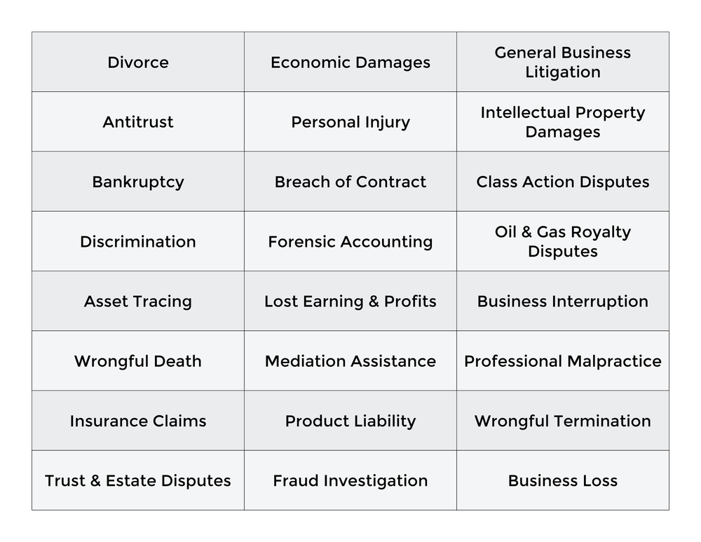 Litigation Support Chart