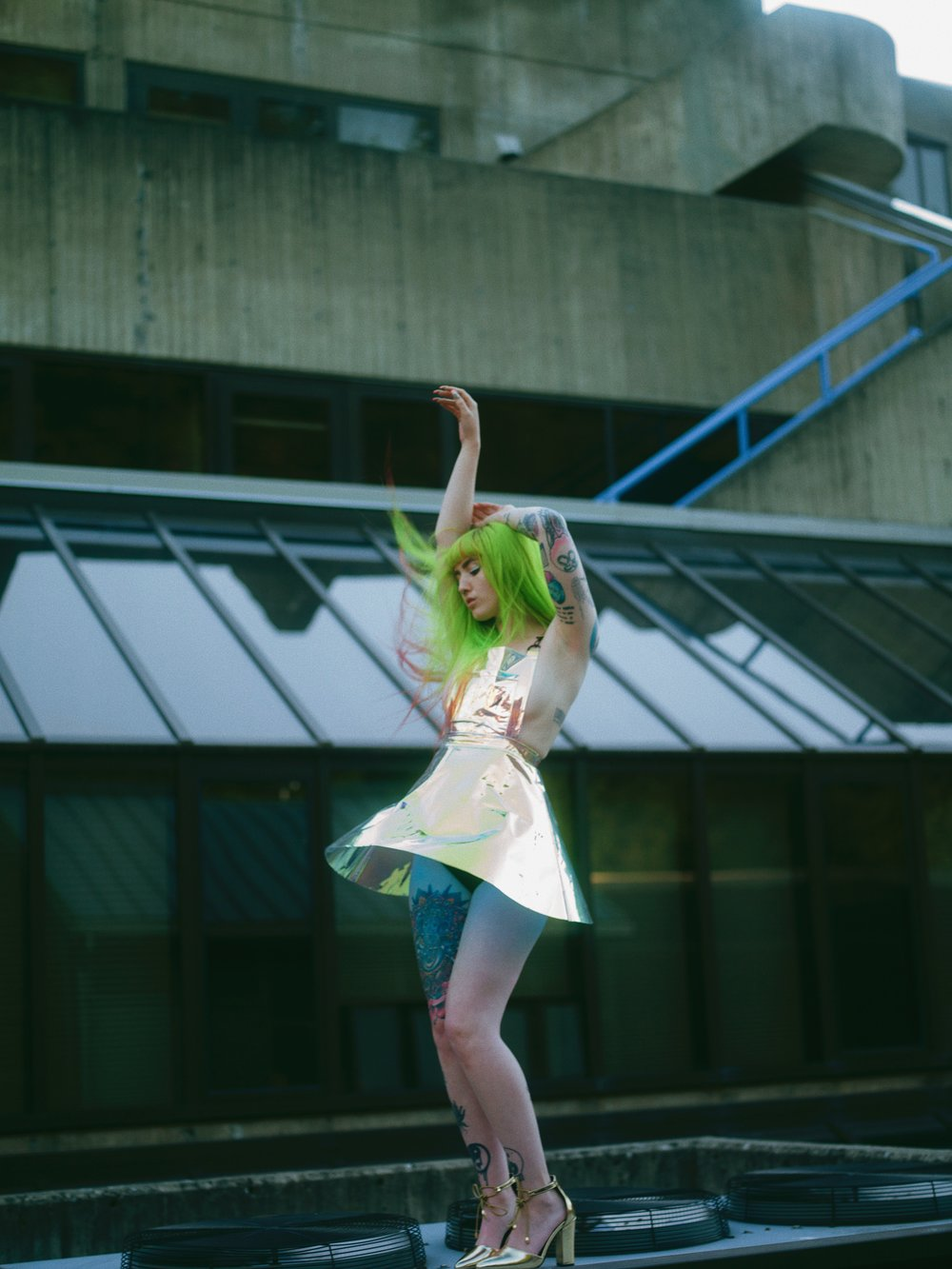 Green hair Brona