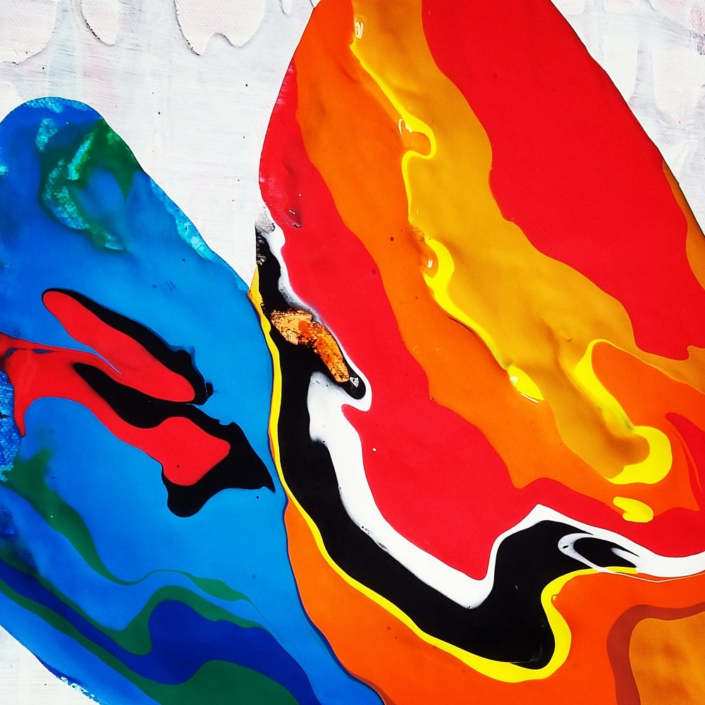 Reflection, 2016   Acrylic on Canvas,  25.5cm X 31cm
