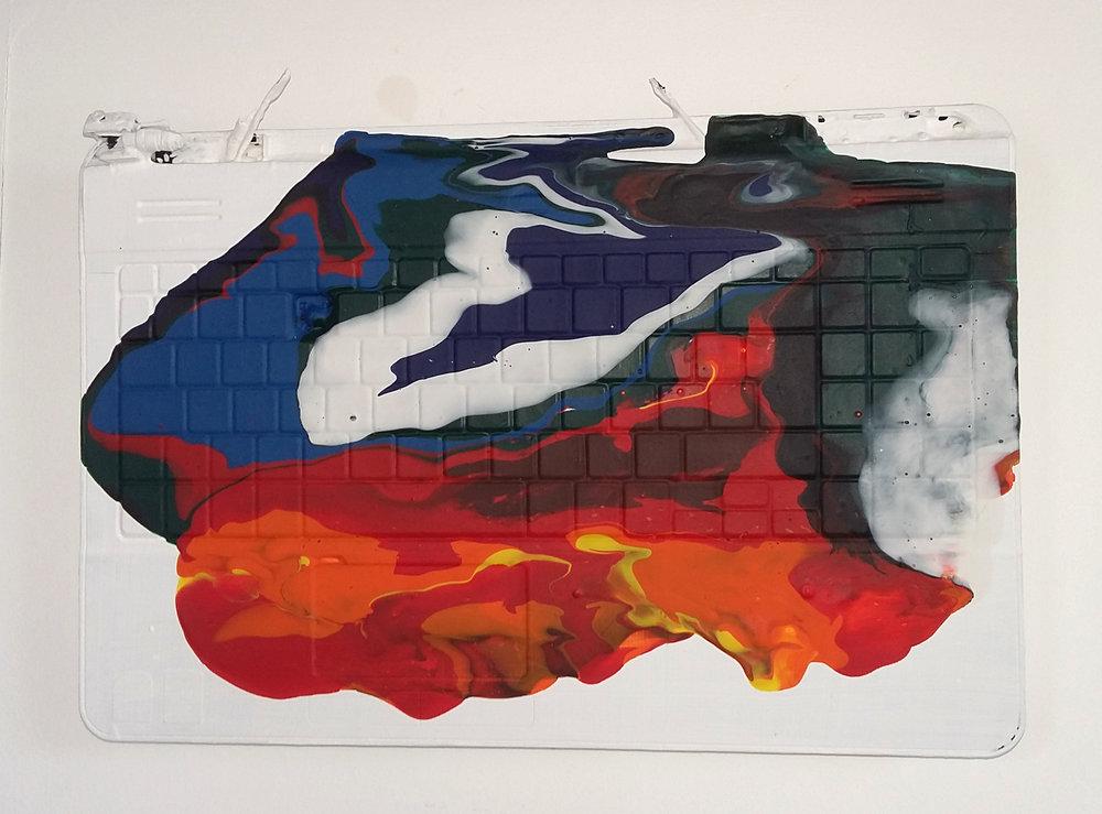 Untitled, 2016   Acrylic on Ccomputer,  24.5cm X 37cm