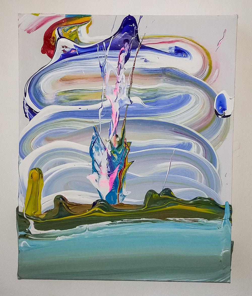 Splash, 2016   Acrylic on Canvas,  25.5cm X 31cm