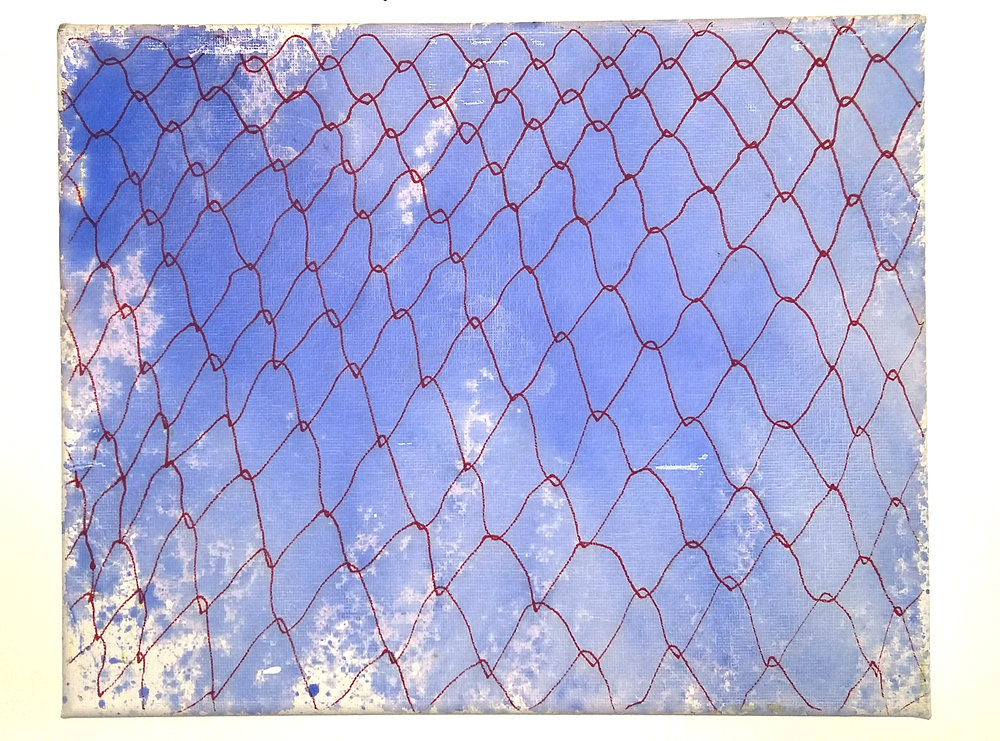 Fence, 2016   Acrylic on Canvas,  25.5cm X 31cm