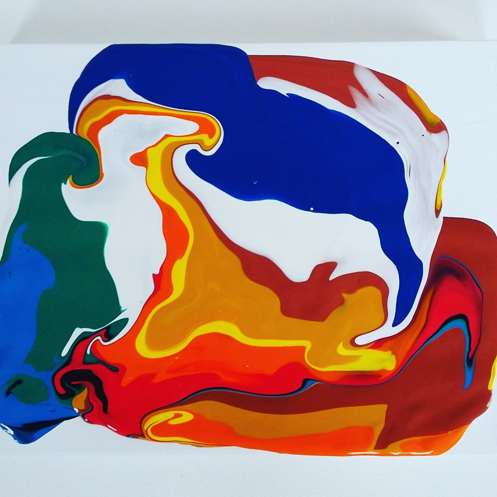 Bird of Prey, 2016   Acrylic on Canvas,  25.5cm X 31cm