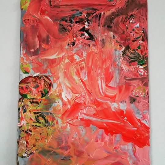 Flesh, 2015   Acrylic on Clipboard  23cm X 32cm