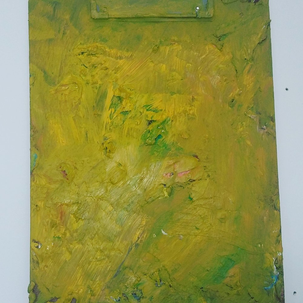 Yellow Clipboard, 2015   Oil on Clipboard  23cm X 32cm