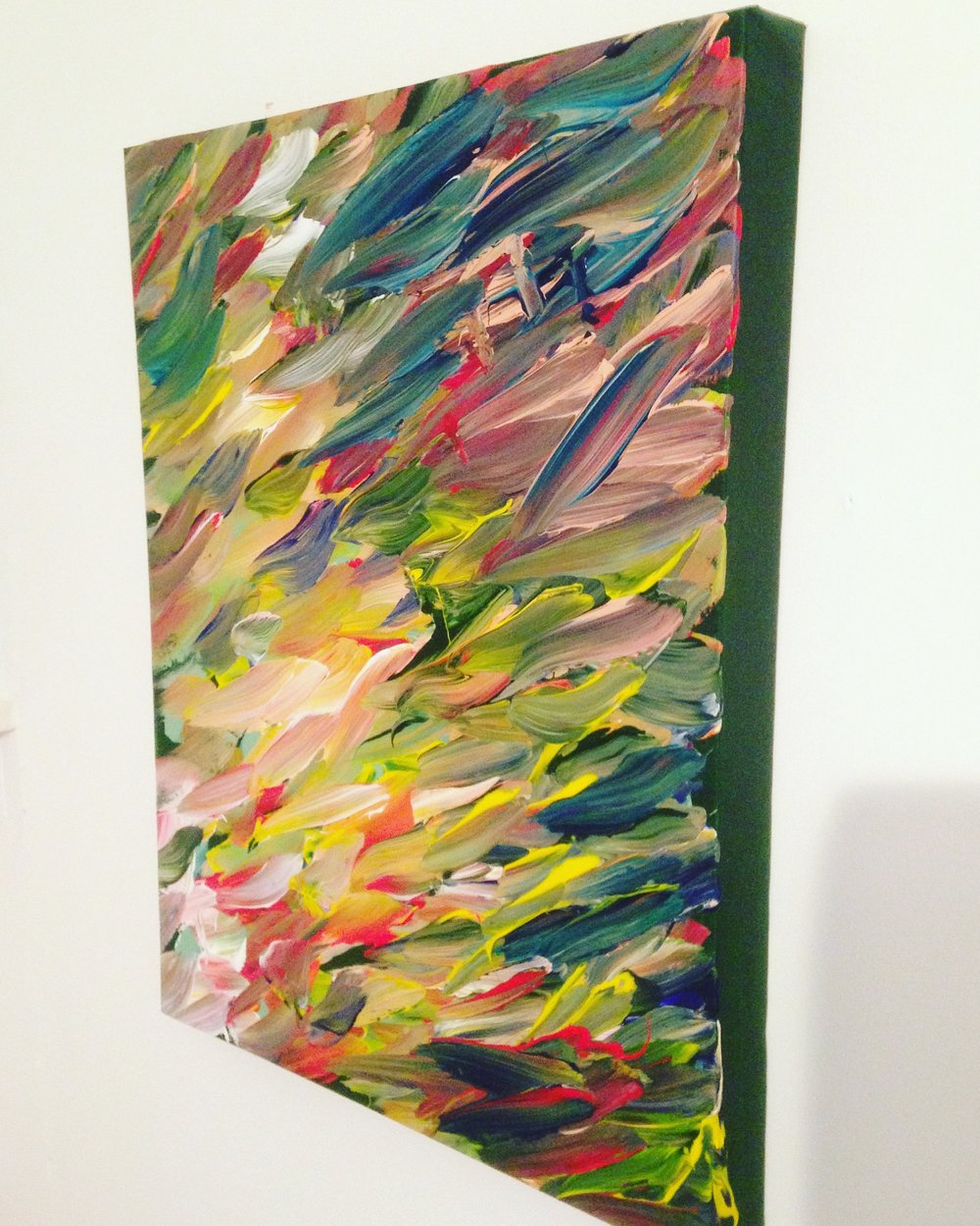 Stroke, 2016   Acrylic on Canvas,  25.5cm X 36cm