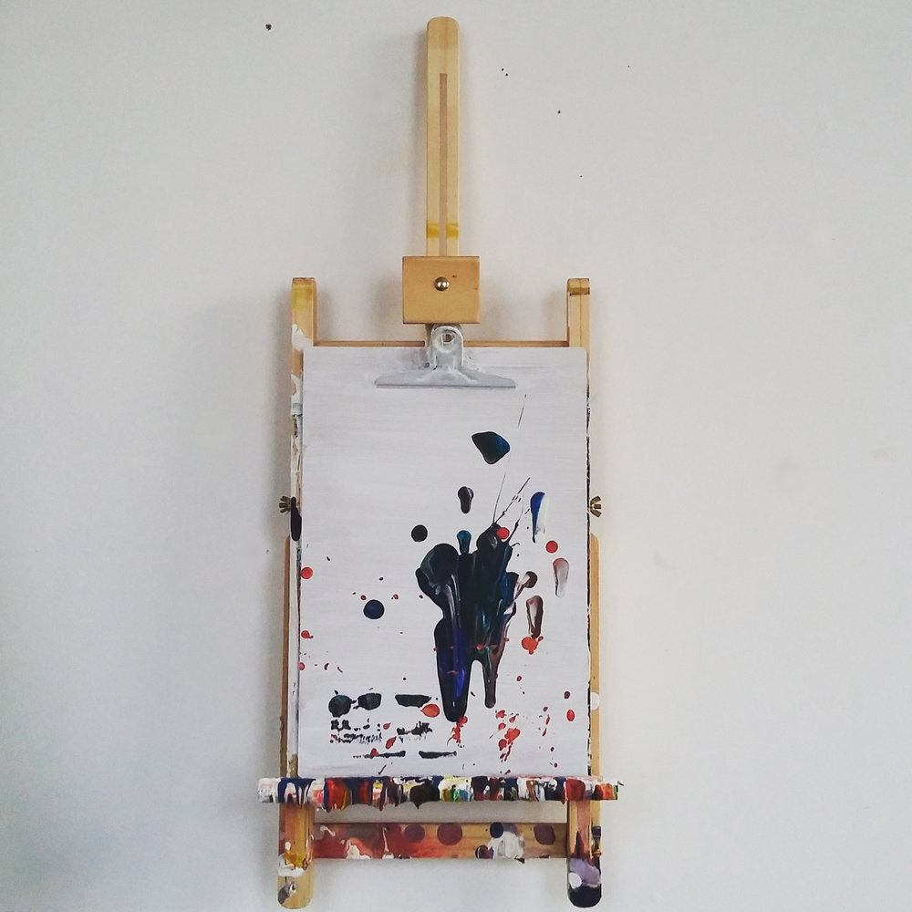 Clipboard, 2015   Oil on Clipboard  23cm X 61cm