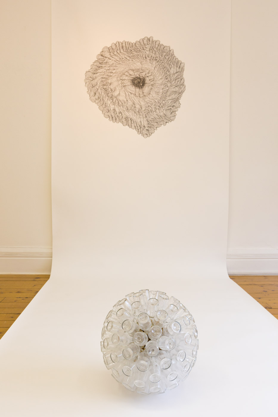Line Drawing, installation, 2014   Hyde Bridge Gallery, Sligo (IE)