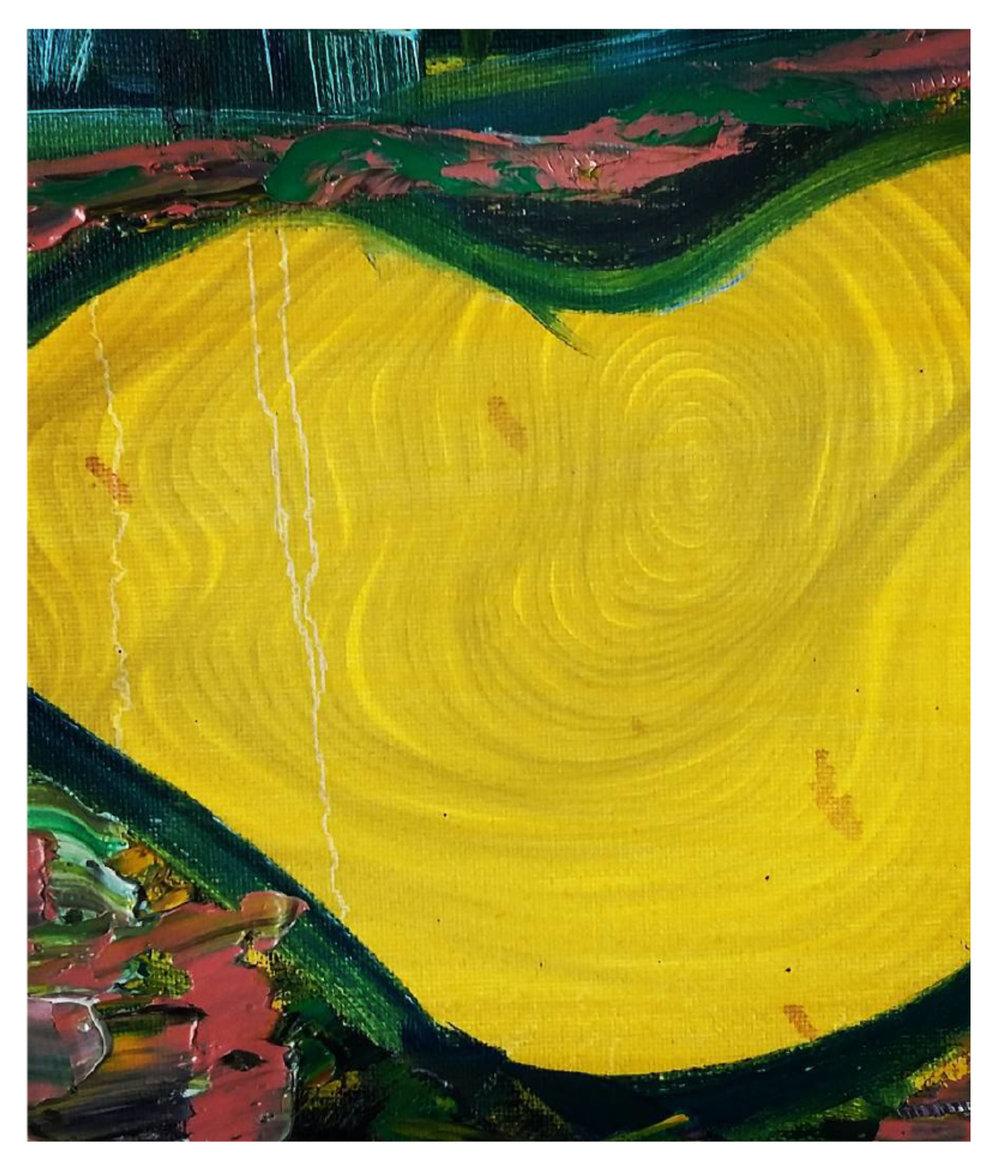Yellow Blanket, 2014   Oil on Canvas  46cm X 61cm