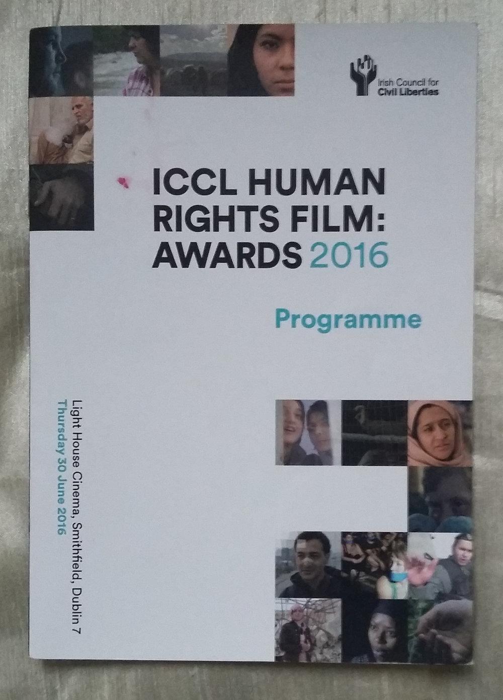 Irish Council for Civil Liberties - ICCL Human Rights Film Awards 2016 Programme