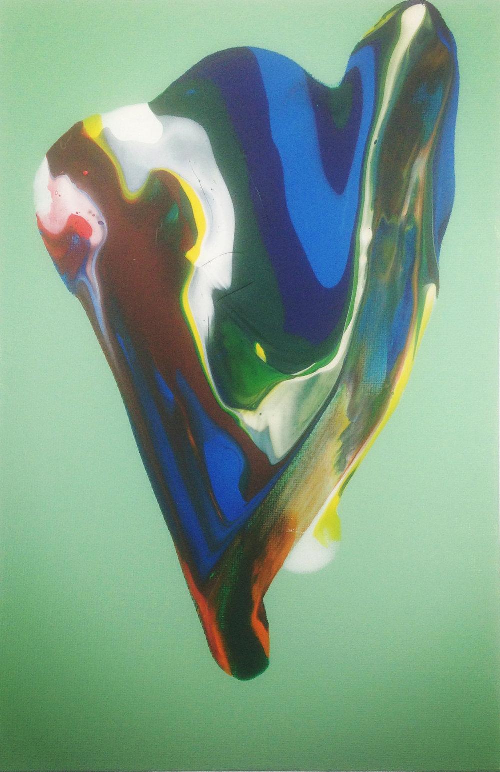 Untitled, 2016   Acrylic on Canvas,  25.5cm X 31cm