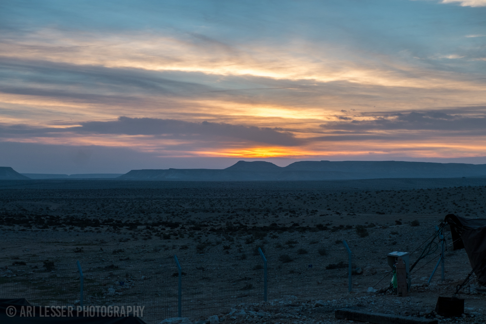 One of the first nights of the trip, we stayed in Bedouin tents got to catch this incredible sunrise.