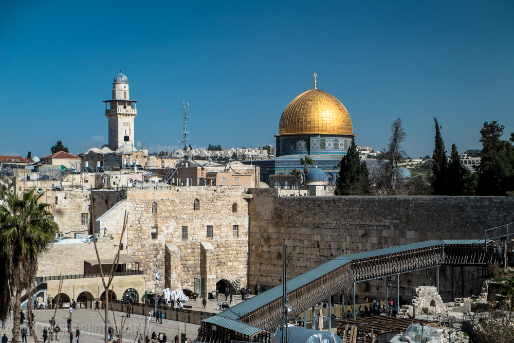 The Western Wall, Dome of the Rock.