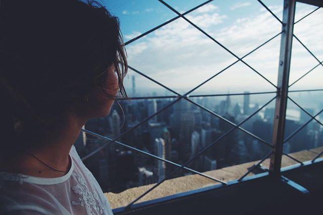 A fun morning survey with a view. 🏙☀️ #fujifilm #nyc #empirestatebuilding @debhercenberg