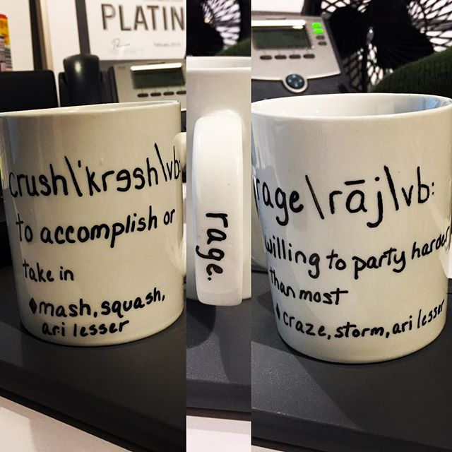 This mug speaks to me on so many levels. #secretsanta #vocab