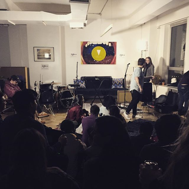 Very stoked to play a stripped down acoustic set here at @sofarnyc with @mattkrenzandthedivine