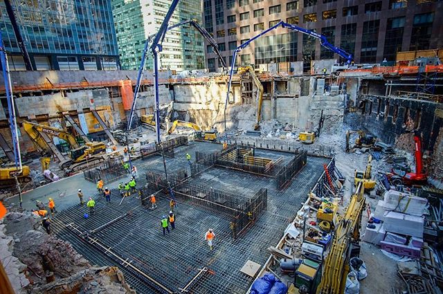 Lovely morning for an epic concrete pour at #onevanderbilt ! Super proud to be on this team and excited to see the second tallest building in NYC take shape. #nyc #ceramiacoustics #construction #fujifilm_xseries #fujifilm #12mm