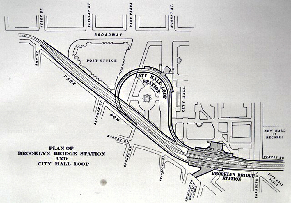 City Hall Subway Station Plan
