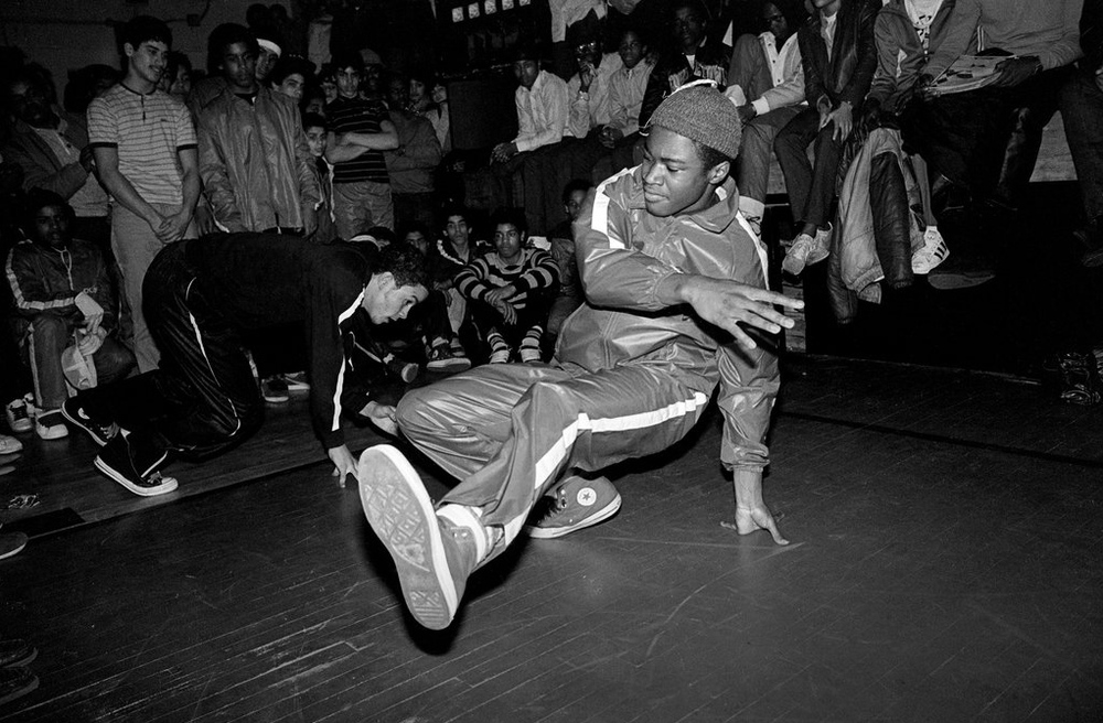 Tanco at a breakdance battle, 1983-84 - Photo By: Ricky Flores
