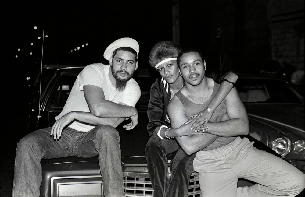 Ruby (center) and friends, 1984 - Photo By: Ricky Flores