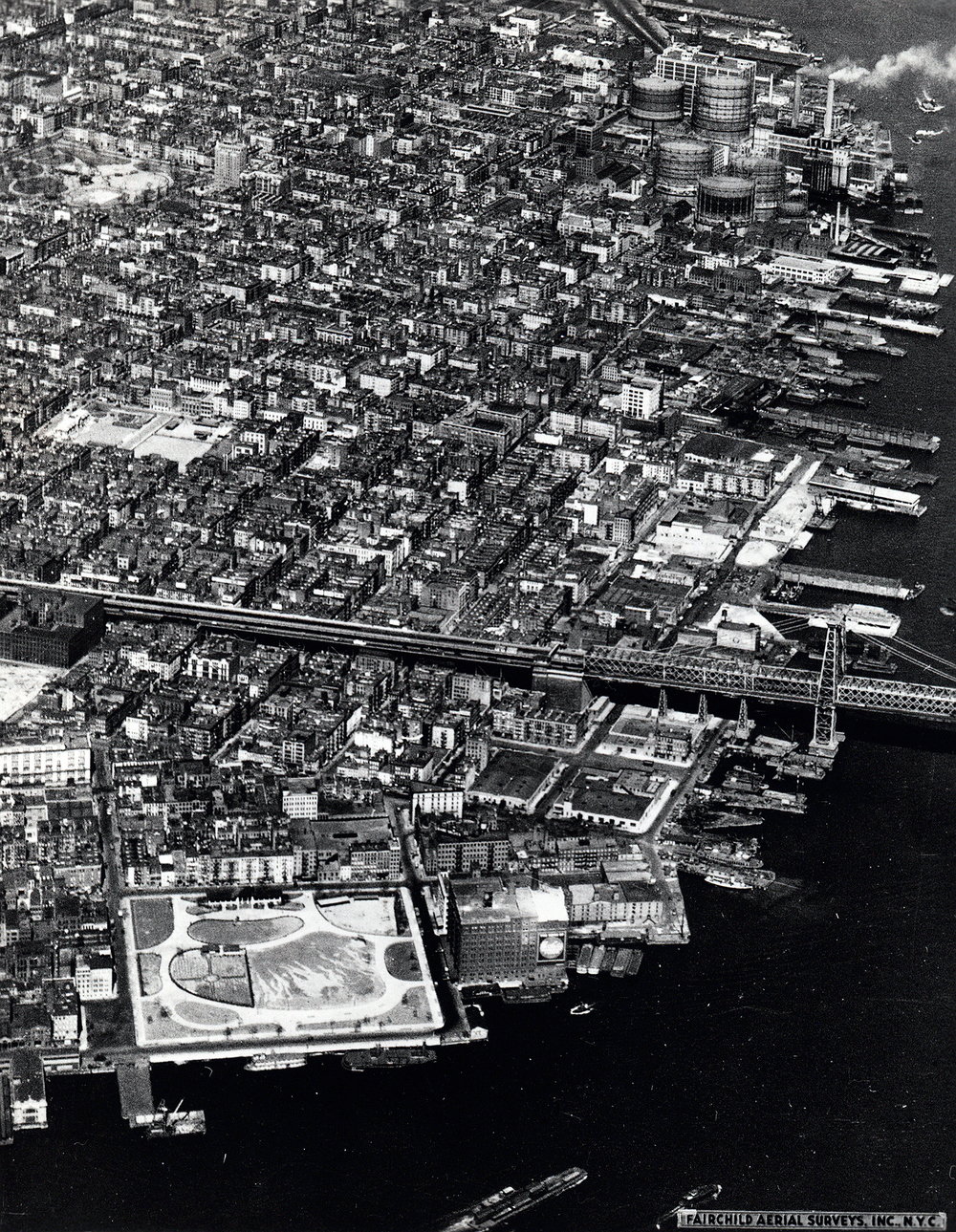Aerial view of the Lower East Side, 1930's - Photo provided by the NYC Department of Records