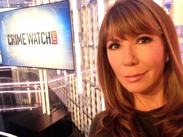 ANA GARCIA ON THE SET OF CRIME WATCH DAILY