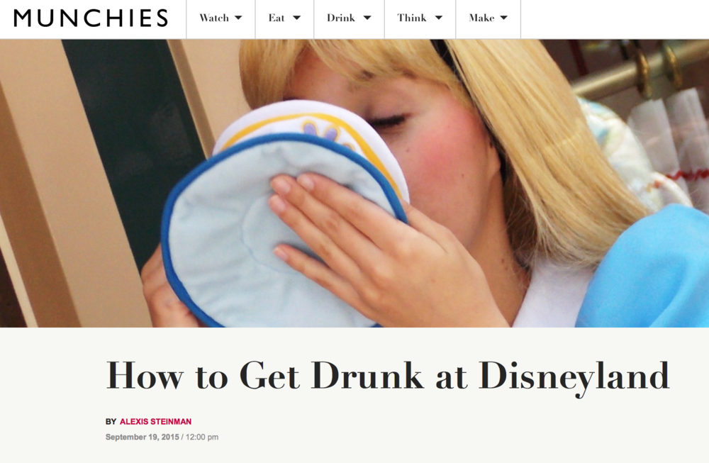Get Drunk At Disneyland