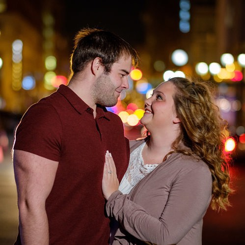 I love offering something different for my couples and a night time shoot downtown definitely fits the bill! Check out these two from late last year.  #indianapolisweddingphotographer #love #indianapolisengagement #engagementphotos #indianapolisbride #fujifilm #fujixt2 #godoxad200 #magmod #magmodcommunity
