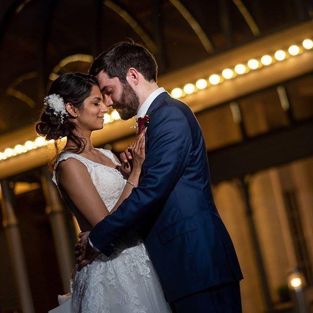 Congratulations Sonia & Richard! #indianapolisweddingphotographer #love #wedding #Godox #fujifilmxt2 #indianapoliswedding #lowlightphotography #brideandgroom