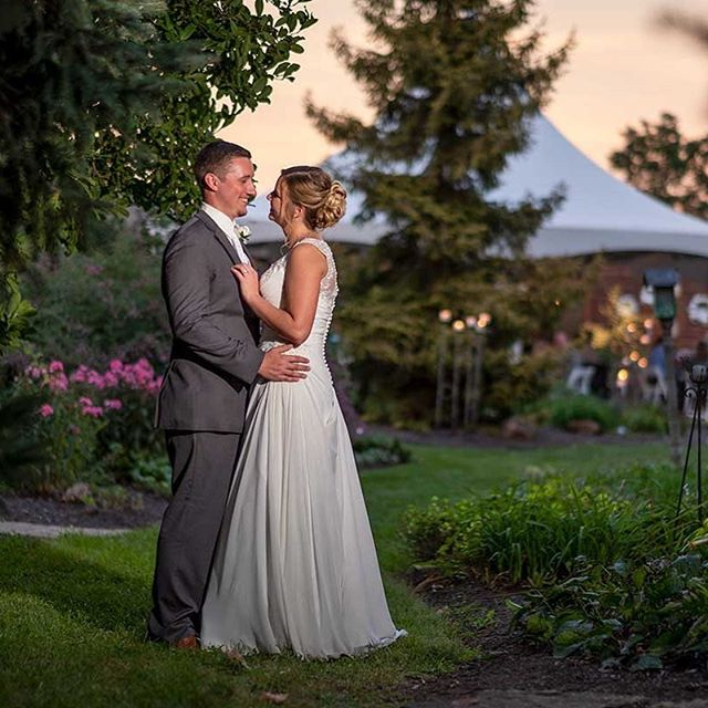 Congratulations Kati & David! #indianapolisphotographer #indianapoliswedding #indianapolisweddingphotographer #brideandgroom #love #sunsetwedding #fujifilm #gardenwedding