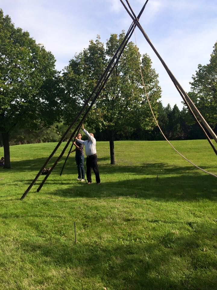 Getting the Tipi started… -