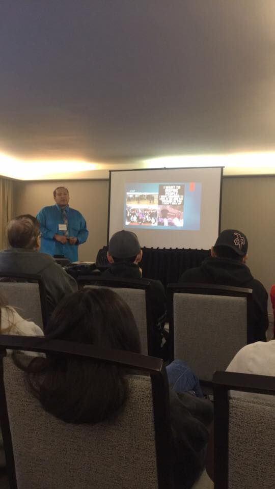 Young Adult Leader Austen Flett presenting at 2nd National IYMP Gathering - A core element of IYMP is knowledge sharing from youth leaders to others across the team.