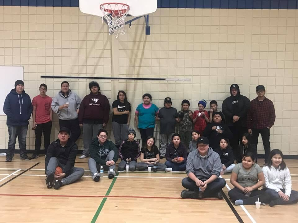 Amazing program in Pimicikamak Cree Nation - Jack Blacksmith Jr and Gilles support close to 100 youth four nights a week for their IYMP program