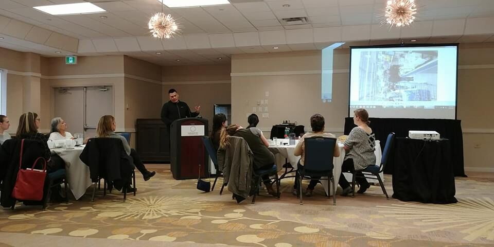 Rippling to New Communities - Jack Blacksmith Jr presenting his IYMP program and experiences to leaders from Prince Albert Grand Council.