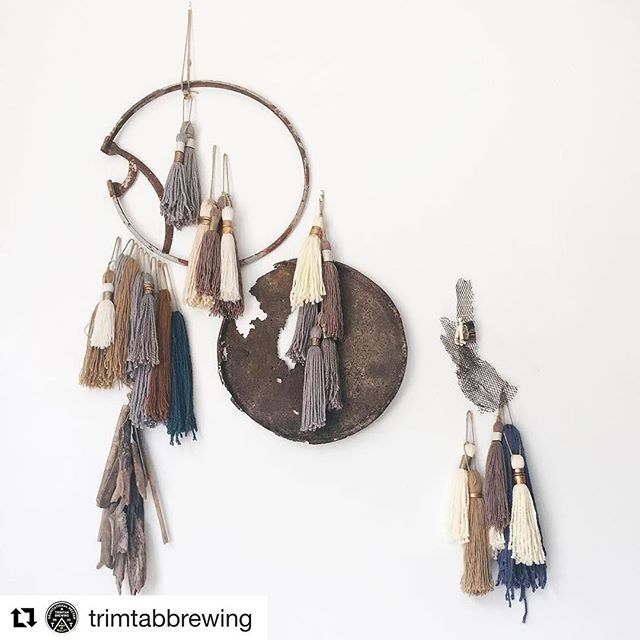 "I love this post from @trimtabbrewing and wanted to share.  SWEET DESIRE     Now - Oct 1 || Pictured || ""MOTH AND RUST""  Found Objects 
