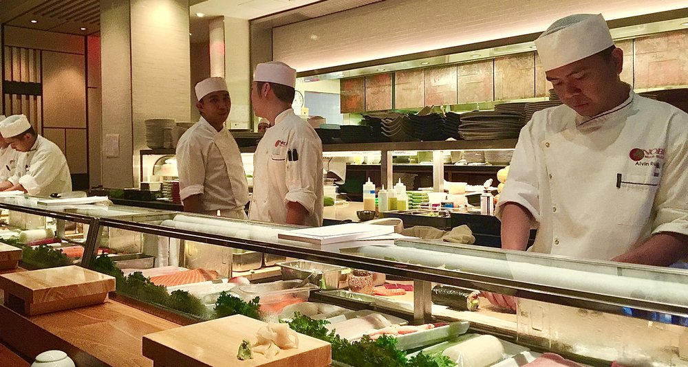 The sushi bar at Nobu Miami. Amazingly delicious and healthy fish! Remember, freshness doesn't matter in the case of high mercury fish.