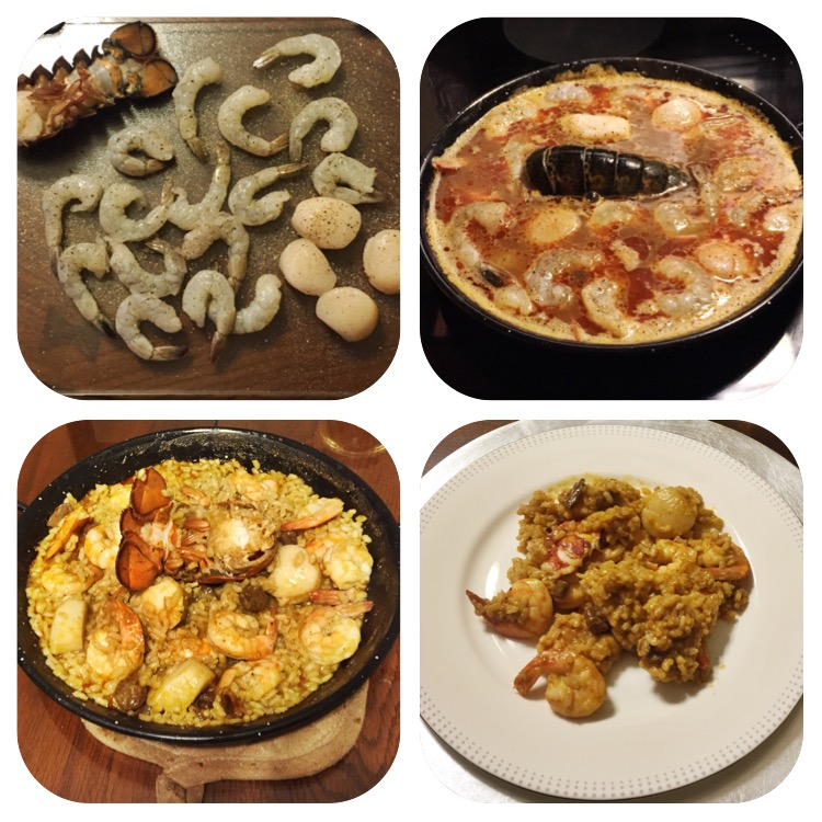 Homemade Seafood Paella!