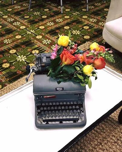 Our Vintage Royal Typewriter used at The Pretty in Pink Foundation Walk of Champions Gala