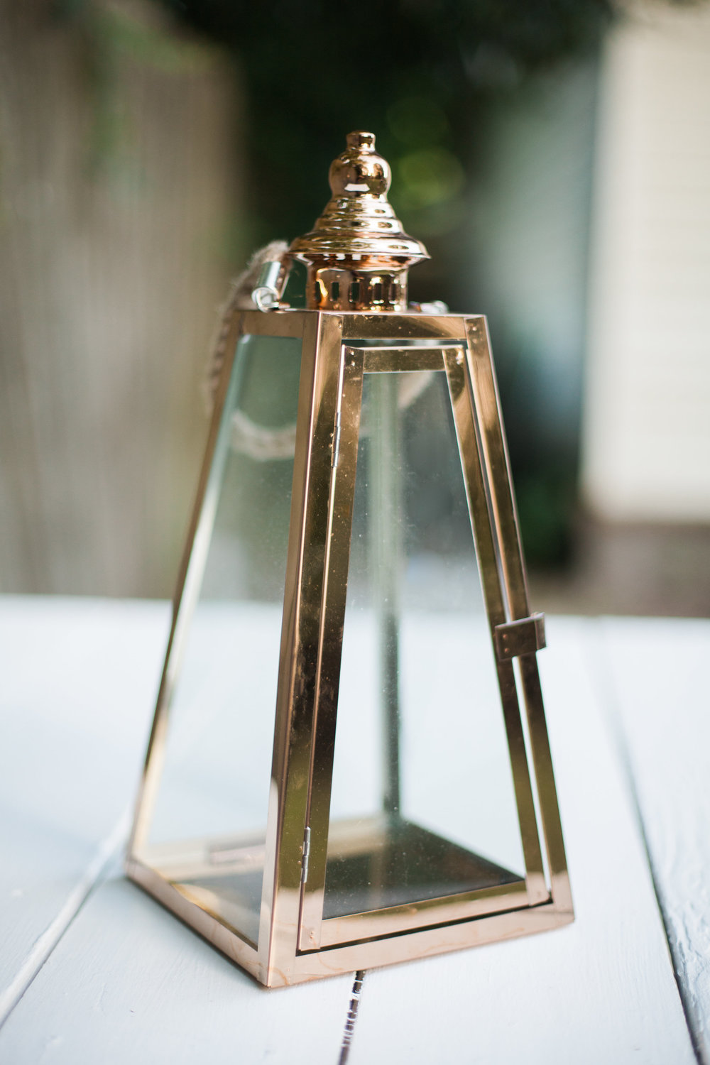 Copper Triangular Lantern