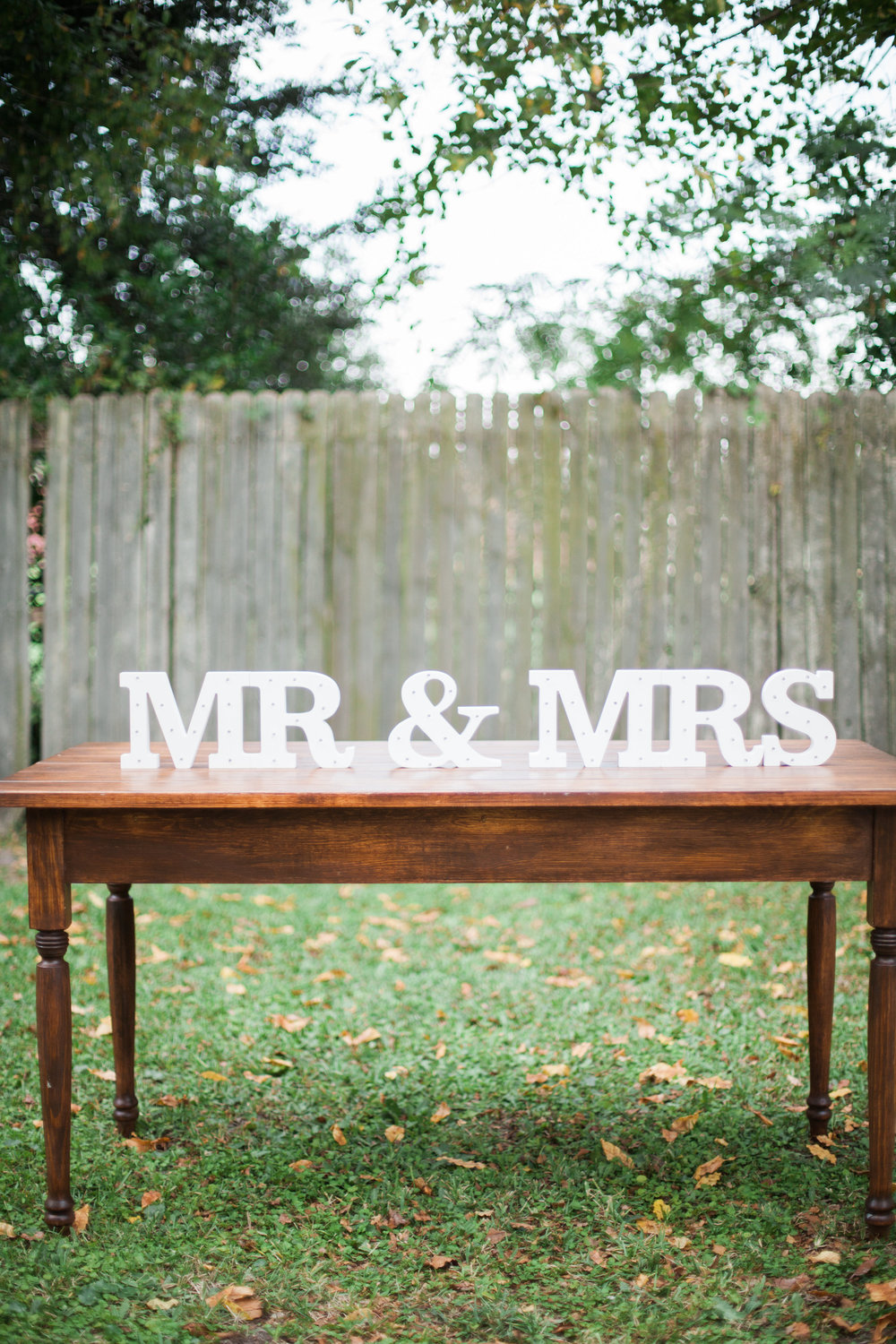 MR & MRS LED Letters