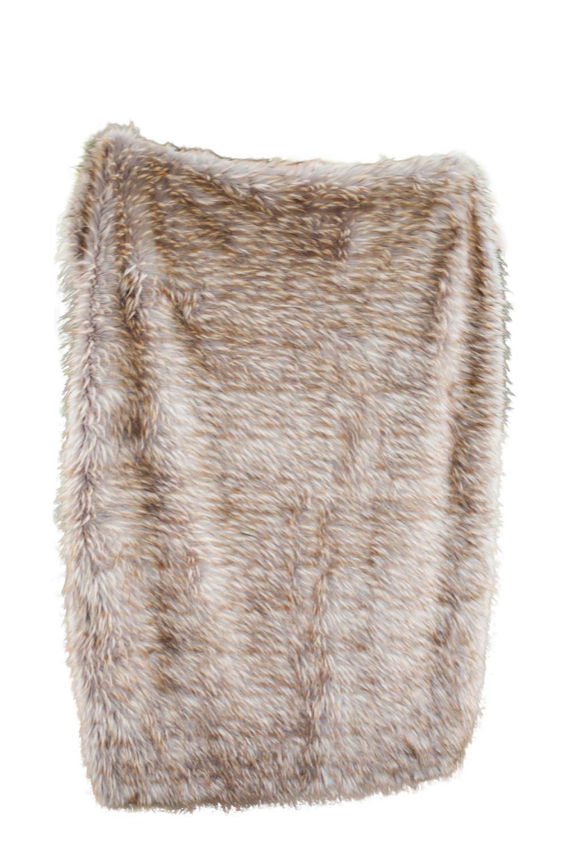 Dark Faux Fur Throw Blanket