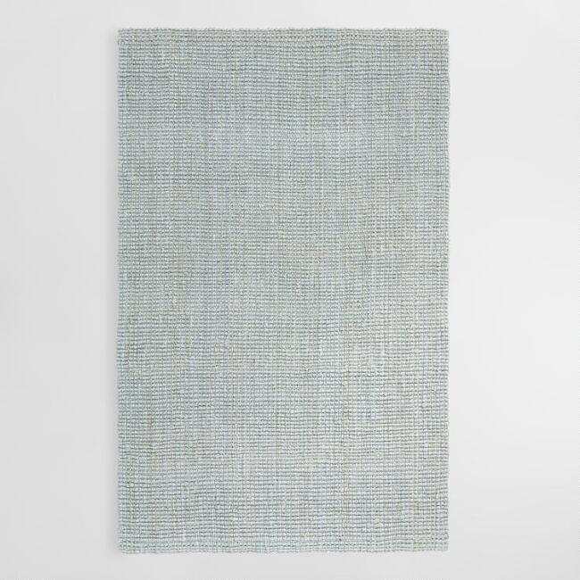 Light Gray Jute Rug  6x7