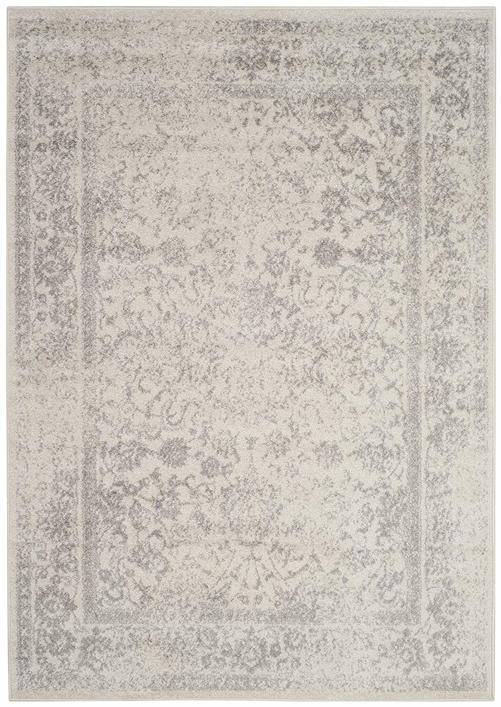 Distressed Silver Rug  4x6
