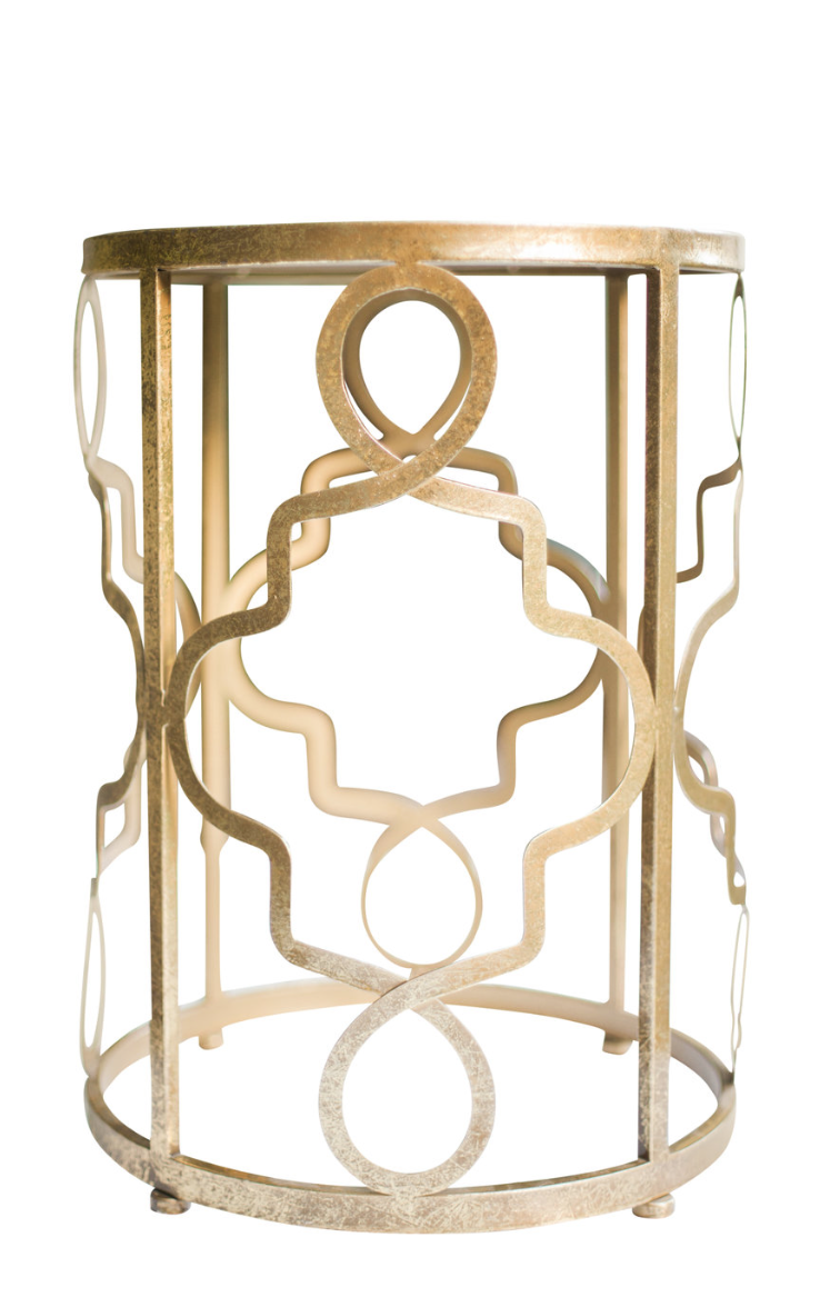 Gold Mirrored End Tables (2)