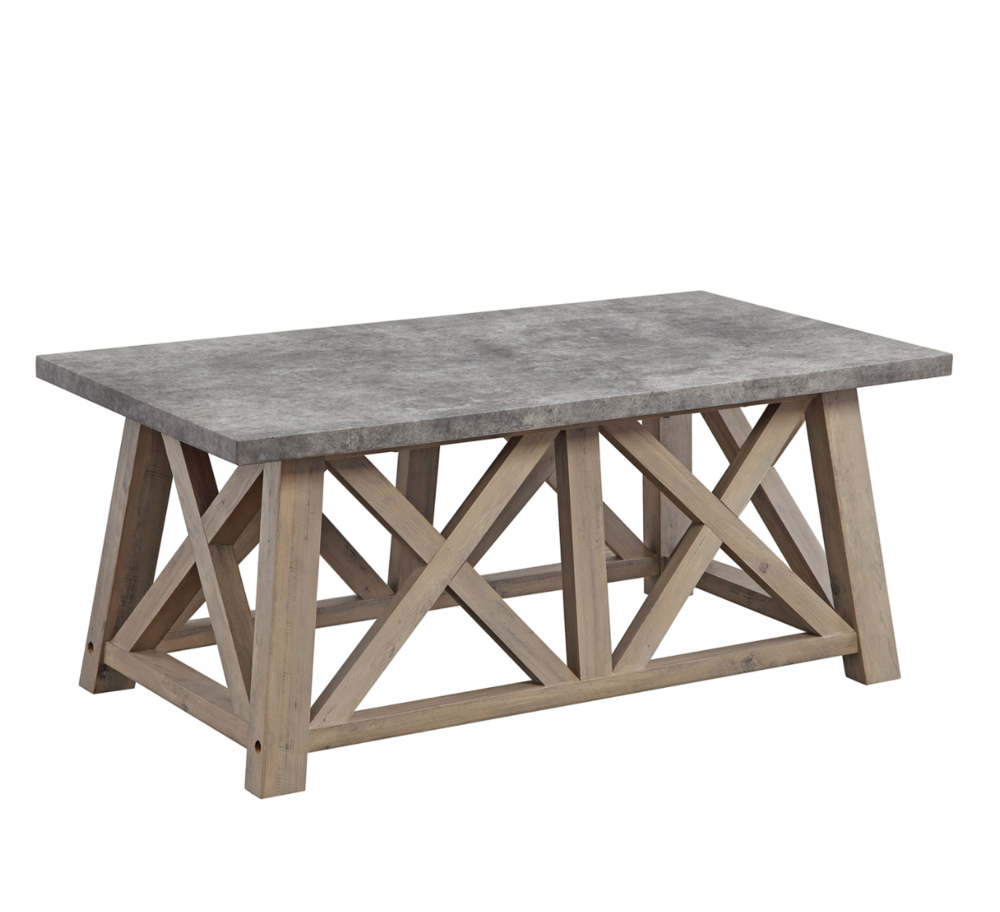 Gray and Wood Coffee Table