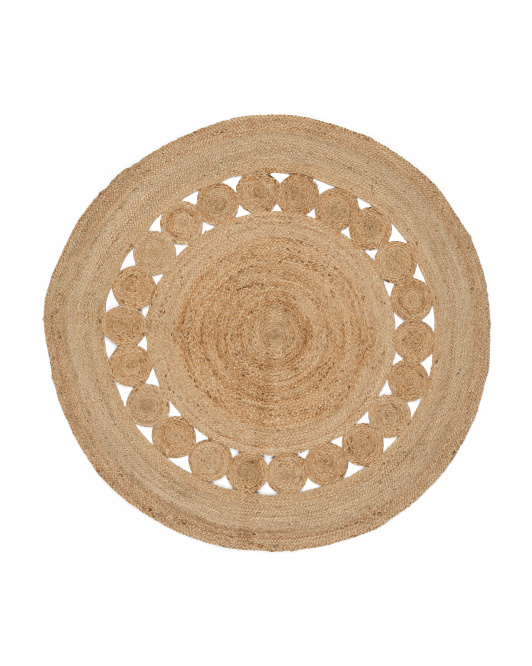 Circle Seagrass Rug    6 ft. wide