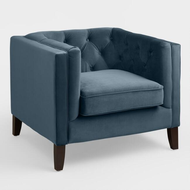 Matthew Club Chairs (2)   Color: Navy Blue
